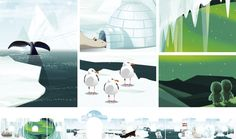 illustration for kids, polar expedition, the arctic, polar light, adobe photoshop, knight's castle, heeresgeschichtliches museum wien