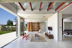 Interior/exterior overflow at House 0614 in Nicosia on Cyprus by Simpraxis Architects