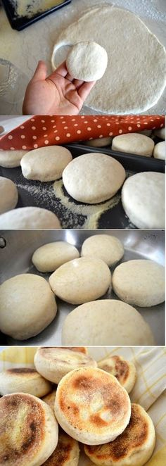 Homemade English Muffins, no offense to Thomas, there is no comparison. This recipe is so #simple and as you're eating this fresh tasting muffin, you'll ask yourself why you waited so long
