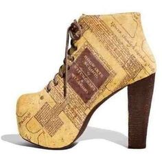 Harry Potter Marauders map boots ❤ liked on Polyvore featuring shoes and boots