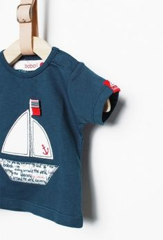 Knit t-Shirt for baby boy. Buy kids fashion designer clothes for babies and children in the boboli online store. Discover our collection! Toddler Boys, Baby Kids, Baby Boy, Summer Baby, Spring Summer, Kids Fashion, Fashion Design, Boys T Shirts, Infants
