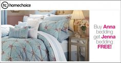 Buy the classic, yet trendy Anna comforter set from and get up to 2 duvet sets free