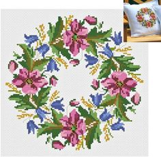 Click to close image, click and drag to move. Use arrow keys for next and previous. Embroidery Patterns Free, Cross Stitch Embroidery, Machine Embroidery, Cross Stitch Designs, Cross Stitch Patterns, Islamic Decor, Cross Stitch Alphabet, Cross Stitch Flowers, Needlepoint