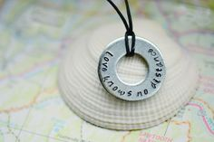 Love Knows No Distance Necklace   Long Distance / Military / Deployment by DanaElyse on Etsy