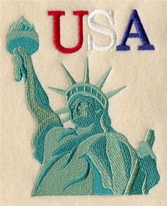 Machine Embroidery Designs at Embroidery Library! - Statue of Liberty