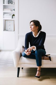 The founder of chic Parisian label Sezane talks us through how to get through summer like a French woman Style Désinvolte Chic, Parisian Chic Style, Paris Chic, Mode Style, Parisian Fashion, French Chic Fashion, French Chic Clothes, French Fashion Styles, French Clothing Styles