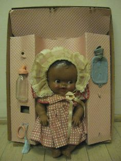 Amosandra Doll Sun Rubber - one of my favorite dolls.  Mine had a yellow crocheted bonnet and jacket.