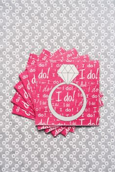 Girl's Night Out I Do! Napkins,  are the perfect way to celebrate that he put a ring on it! These cute napkins are a must for any bridal events. Craft