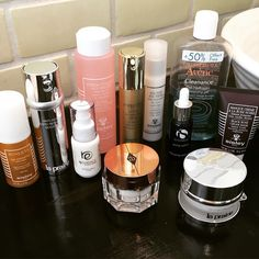 Some of you were wondering about my current skincare regime so here you go! #imaproductjunkie #ittakesavillage