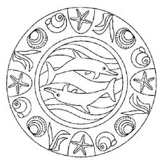 Mandalas bring relaxation and comfort to adults all over the world. Mandalas are one of our favorite things to color. Kids can color them too! We have some more simple mandalas for kids to color. Mandalas for Kids Dolphin Coloring Pages, Mandala Coloring Pages, Animal Coloring Pages, Coloring Book Pages, Coloring Sheets, Coloring Pages For Kids, Free Coloring, Mandalas Painting, Mandalas Drawing