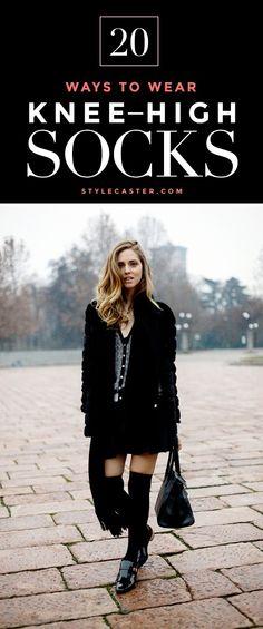 Winter Outfit Idea | How to wear knee-high socks like a fashion girl | The Blonde Salad, Chiara Ferragni