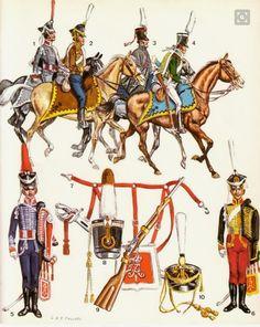 Trombe degli ussari, tromba degli ussari della Russia bianca e sottufficiale degli ussari di Irkoutsk