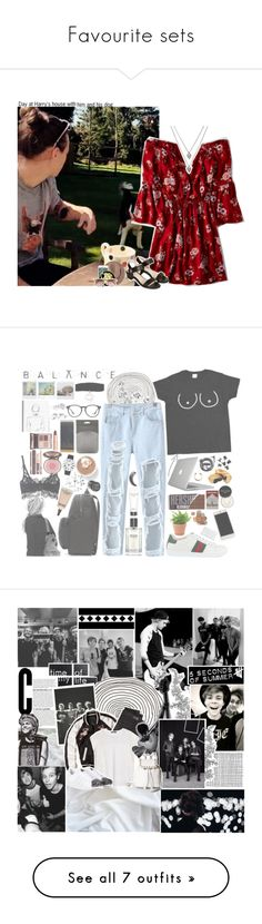 """""""Favourite sets"""" by perfectharry ❤ liked on Polyvore featuring American Eagle Outfitters, Topshop, Witchery, OneDirection, harrystyles, 1d, 1DOutfits, harrysgirl, H&M and Gucci"""