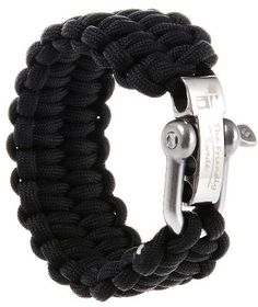Paracord Bracelet Shackle W// Compass Stainless  Steel Adjustable Buckle Fine NB