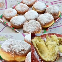 Croafne banatene - niste gogosi pufoase uriase ❤ Super fluffy homemade donuts. #savoriurbane #gogosi . Reteta la linkul de pe profil @oanaigretiu . #donuts #homemade #fluffy #gogosipufoase #desertsofinstagram #donutsofinstagram #dulce #desert #traditional #desserts #doughnuts #croafne #krapfen #zaharpudra #simplerecipes #foodideas #foodphotoaday #foodfoto #retetabuna #goodfood #delicious Good Food, Yummy Food, Homemade Donuts, Doughnuts, Deserts, Muffin, Easy Meals, Bread, Breakfast