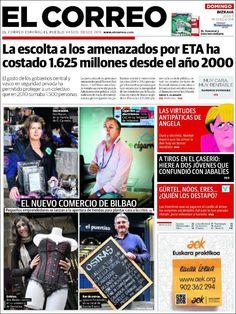 Los Titulares y Portadas de Noticias Destacadas Españolas del 22 de Septiembre de 2013 del Diario El Correo ¿Que le pareció esta Portada de este Diario Español?