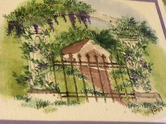 IRON-FENCE, columns, covered bridge, wisteria flower, vines, greenery are sold separately. sold separately. Made by Art Impressions. You can purchase these  in  my ebay store. Click on picture & it will take you into this listing in my Ebay Store. .  My ebay Store is:  Pat's Rubber Stamps & Scrapbooks or call me 423-357-4334 with order. We take PayPal. You get free shipping with $30.00 or more