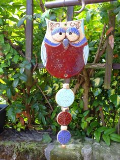 Pottery wind chime - so cute!