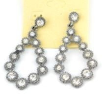 Hematite Teardrop Earrings Price $6.00