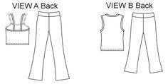 Kwik Sew 3115 Yoga Pant Line Art