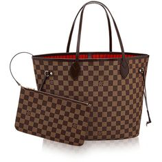 Neverfull MM Damier Ebene Canvas (1 897 180 LBP) ❤ liked on Polyvore featuring bags, handbags, tote bags, structured handbags, canvas tote, tote purses, tote handbags and over the shoulder handbags