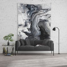 Marble B/W/G Wall Tapestry Photo Backdrop (large)