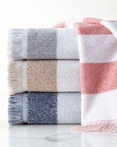Marmara Towels by Kassatex at Neiman Marcus.  (pewter)