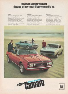 1967 Chevy Camaro - How much driver you want to be - vintage ad