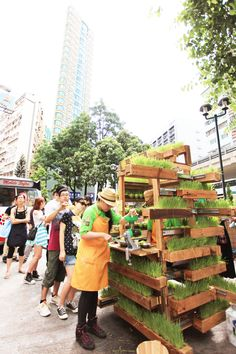 In July 2012, artist Kacey Wong put his ideas to the test with an exhibition in Fa Yuen Street entitled Hawkerama, a name coming from Hawker + Panorama. There were games, food, music, and fun events conceived by artists and designers set out amid the real hawker stalls. Viewers first had to purchase something from the market before enjoying the other creations as a way of promoting this side of street culture. #detourhk #detour2012 #aod #booth #design #designer #blackmarket #vegetables…