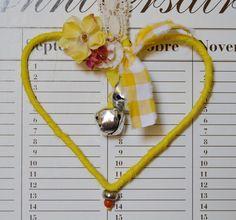 Yellow heart pendant decor