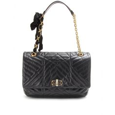 LANVIN Happy large quilted leather shoulder bag (black) by www.giulialoves.com