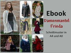 Nähanleitungen Mode - Damenmantel Frieda Mantel Ebook SOFORTDOWNLOAD - ein Designerstück von mondbresal bei DaWanda
