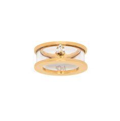 Maria Francesca Pepe Deco Plexi Ring With Triangular Stone Shop now> https://www.mariafrancescapepe.com/showplarge.aspx?prodid=896&catid=50&utm_source=Social&utm_medium=Pinterest&utm_campaign=ss15_city_plexi_ring