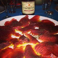 Sashimi e champagne