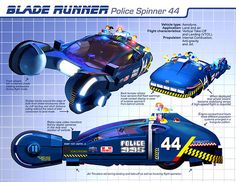 Blade Runner Police Car l Blade Runner Spinner, Film Blade Runner, Blade Runner 2049, Cyberpunk, Aliens, Star Trek, Electric Sheep, Electric Scooter, Syd Mead