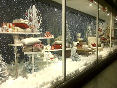 winter wonderland forest windows display | Winter Window Displays