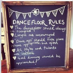 Wedding dance floor rules