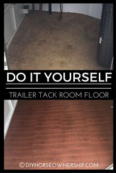 DIY: Do it Yourself How to replace your trailer tack room flooring.