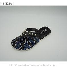 2ba5432233aa PVC fashion Summer flip flops for women utility slippers made in Wuchuan  Q2014 black sole or