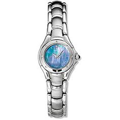 @Overstock - Women's timepiece showcases blue mother of pearl dial  Feminine wristwatch boasts solid stainless steel construction  Seiko women's watch is a stylish addition to your everyday wardrobehttp://www.overstock.com/Jewelry-Watches/Seiko-Reflections-Womens-Stainless-Steel-Watch/3514823/product.html?CID=214117 $129.99