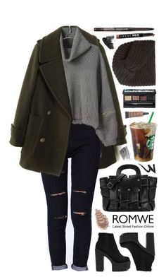 """""""ROMWE ft. High Waist Ripped Denim Black Pant"""" by yen-and-len ❤ liked on Polyvore featuring NARS Cosmetics, Rosie Sugden, NYX, MAC Cosmetics, LORAC, Bobbi Brown Cosmetics, Manic Panic and Topshop"""