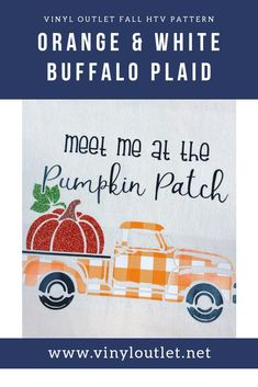 New! Orange and White Buffalo plaid at Vinyl Outlet. Buffalo Plaid, Heat Transfer, Patches, Orange, Pattern, Model, Patterns, Pattern Print, Texture