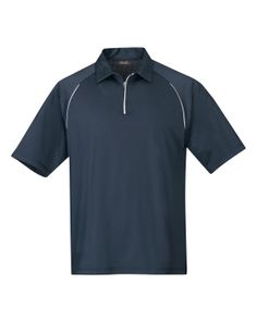 Men's Short Sleeve Knit Shirt, 1/4 Zip With Mesh Back (85% Polyester/15% Spandex)  Tri mountain 409 Huntington