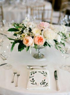 La Tavola Fine Linen Rental: Dupionique Ivory | Photography: Diana McGregor, Floral Design: Sweet Marie Designs, Coordination: Soleil Events