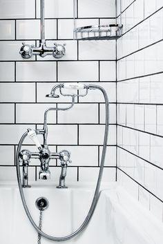 Burlington Taps in Peckham bathroom refit Taps, Sink, Spaces, Mirror, Bathroom, Home Decor, Sink Tops, Washroom, Vessel Sink