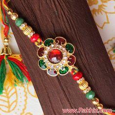Jewel Meenakari Work Rakhi For Bhaiya Send Rakhi To India, Buy Rakhi Online, Handmade Rakhi, Rakhi Design, Raksha Bandhan, Diy Home Crafts, Online Gifts, Handmade Decorations, Kids Fashion