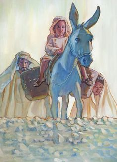 The young life of Jesus, as imagined by Rose Datoc Dall Please do not remove credit to artist. Catholic Art, Religious Art, Life Of Christ, Prophetic Art, Jesus Art, Biblical Art, Jesus Pictures, Holy Family, Blessed Mother