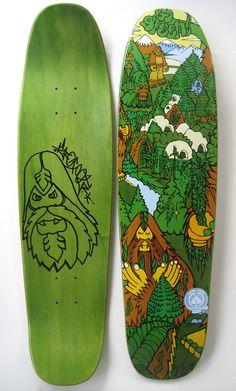 Bigfoot Go Green! Skateboard Deck