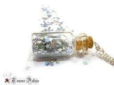 Star Bottle Necklace Glass Bottle Pendant by TenereDelizie on Etsy, $15.00