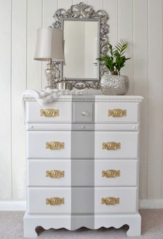 dresser makeovers, paint furniture, store dresser, old furniture, color schemes, paints, thrift store, stripes, diy thrift